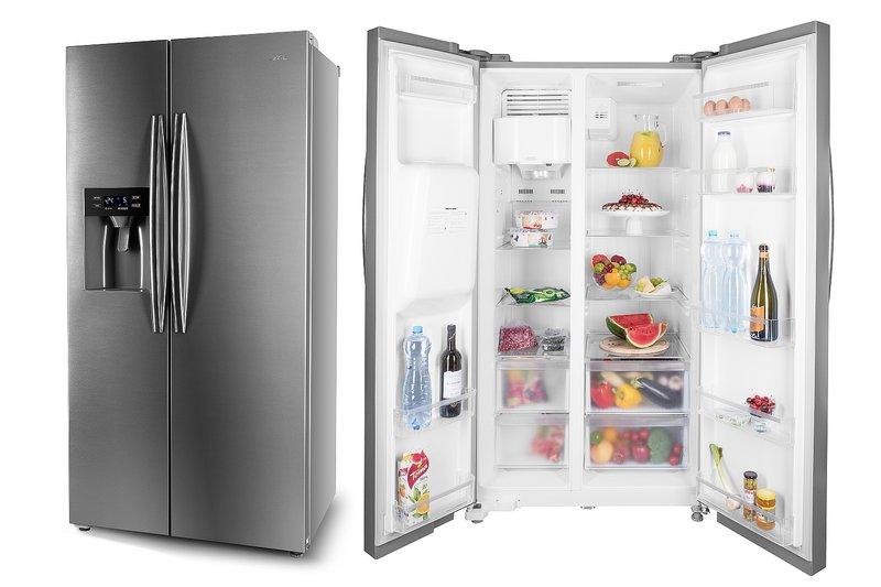 Amerikanischer Kühlschrank Mit Eiswürfelspender : Amerikanischer kühlschrank eta 137190010 side by side eta