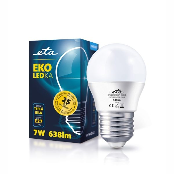 LED-Lampe ETA EKO LED Mini Globe, 7W, E27, warmweiß